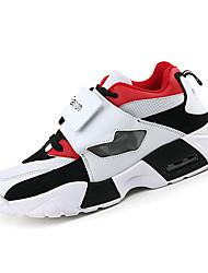 Femme-Sport-Noir / Rouge / Blanc-Talon Plat-Confort / Bout Arrondi-Sneakers-Tulle