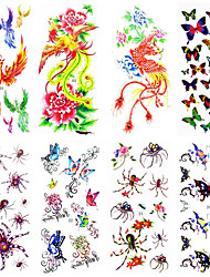 16 Designs Waterproof Temporary Tattoos Sticker Tattoo for Body Accessories 24cm*9.5cm (Assorted Pattern)