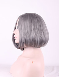 High Quality Cheap Silver Grey Ombre Wig Short Bob Wigs Synthetic Hair Heat Resistant Wig Cosplay