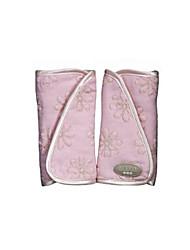 um par cole assento de carro carrinho de ombro cinto de bebê lados capa protetora pescoço almofada de proteção pad para o carro