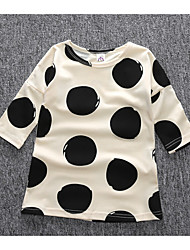 Girl's Casual/Daily Polka Dot DressCotton Summer / Spring Beige
