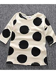 Robe Fille de Points Polka Décontracté / Quotidien Coton Eté / Printemps Beige