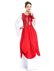 Costumes de Cosplay / Costume de Soirée Cosplay Fête / Célébration Déguisement Halloween Rouge Mosaïque Robe / Plus d'accessoires