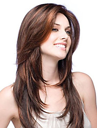 Premierwigs Fashion Straight Natural Color Brazilian Virgin Glueless Full Lace Wigs Silk Base Lace Front Wigs