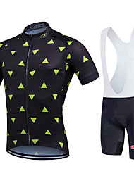 Fastcute® Cycling Jersey with Bib Shorts Women's / Men's / Unisex Short Sleeve BikeBreathable / Quick Dry / Moisture Permeability /