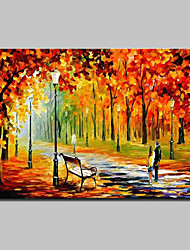 Hand Painted Landscape Oil Painting On Canvas Wall Art Picture For Home Decoration With Stretched Frame Ready To Hang