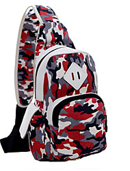Unisex Canvas / Polyester Sports / Casual / Outdoor Shoulder Bag-Multi-color