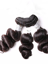 Low Price Wholesale 300g 8-12inch Brazilian Virgin Hair Loose Wave Natural Black Unprocessed Human Hair Weaves