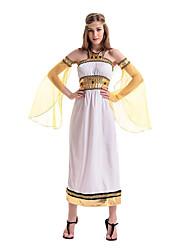 Costumes de Cosplay / Costume de Soirée Reine / Costumes égyptiens Fête / Célébration Déguisement Halloween Blanc Couleur PleineRobe /
