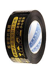 восемь золотых слов черном фоне предупреждение ленты в упаковке