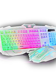 Rainbow Color Keyboard & Mouse Combos  Professional Waterproof USB Backlights  Gaming Keyboard for Laptop Windows/Mac OS