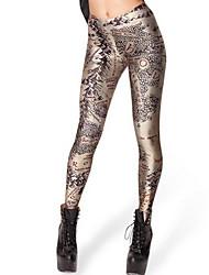 Women Print Legging,Polyester