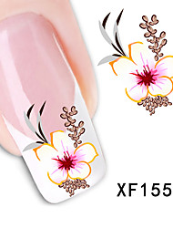 New Fashion Water Transfer Flower Decal Women Stickers Nail Art Acrylic Manicure Tips DIY Sell Hotting