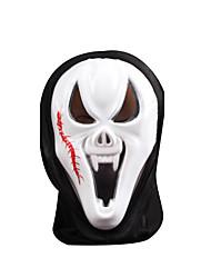 Artigos de Halloween Esqueleto/Caveira Trajes da Noite das Bruxas Branco Patchwork / Estampado Máscara Dia Das Bruxas UnisexoEngenharia