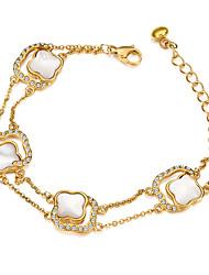 Femme Charmes pour Bracelets Acier au titane Coquillage Mode Forme de Croix Argent Doré Bijoux 1pc