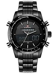 Мужской Модные часы Цифровой / сплав Группа Повседневная Черный марка