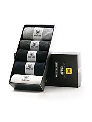 DOUBLE LIONS Men's Cotton Socks 5/box-MM0409