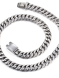 316L Stainless Steel Heavy&Chunky 60cm Long Cuban Link Chain Necklace 2016 Men's Costume Accessory Jewelry Gift