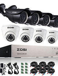 ZOSI® 8 CH AHD D1 Real Time (704*576) 4 720p 36 No