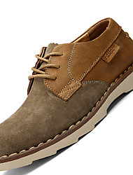 Men's Oxfords Comfort Suede Office & Career / Casual Flat Heel Lace-up Coffee / Camel / Khaki Others