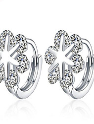 May Polly Europe and the United States fashion 18K White Gold Earrings
