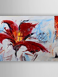 Abstract Flower Oil Painting Hand Painted Canvas Painting with Stretched Framed Ready to Hang