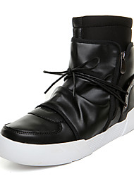 Men Genuine Leather Boots Zipper Slip-on Snow Boots