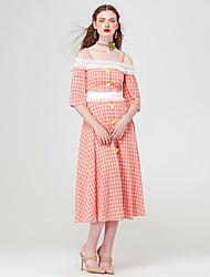 YIGELILA Femme A Bretelles Manches 1/2 Maxi Robes-61802