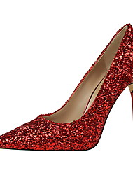 Women's Heels Spring / Summer / Fall / Winter Comfort / Pointed Toe / Closed Toe  Casual Stiletto Heel Sequin
