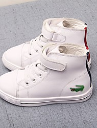 Unisex Sneakers Fall Comfort Canvas Casual Flat Heel Magic Tape White