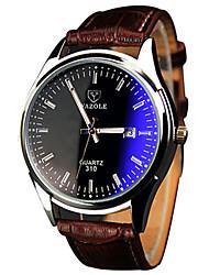 Herren Armbanduhr Quartz / PU Band Cool / Bequem Braun Marke