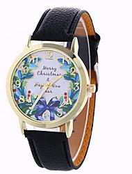Women's Fashion Analog Stripe Ladies' Christmas Butterfly Display Strap Bohemia Quartz Wrist Watch