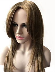 Blonde Color Long Straight Wigs Capless Synthetic Wigs For Women