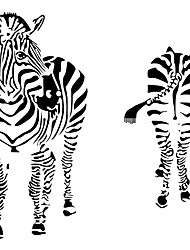 Wall Stickers Wall Decals Style Love Zebra PVC Wall Stickers