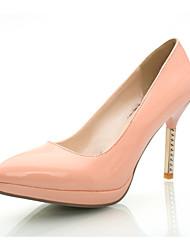 Damen-High Heels-Hochzeit / Büro / Kleid / Lässig / Party & Festivität-Glanz-Stöckelabsatz-Komfort / Pumps-Schwarz / Rosa / Beige