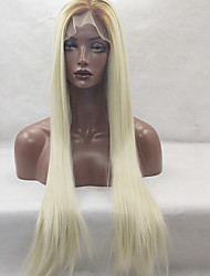 Fashion Long Straight Synthetic Lace Front Wig Glueless 1b/613 Color For Afro Women Wigs
