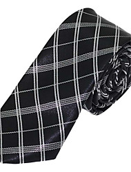 Men Polyester Silk Leisure Jacquard Tie Necktie for Wedding Party