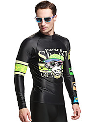 Long Sleeve UV Protection Beachwear Swimwear Men Rash Guard Surfing Tops Diving Snorkeling Swim Shirt