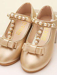 Girl's Loafers & Slip-Ons Spring / Fall Flats PU Dress / Casual Low Heel Bowknot Pink / Silver / Gold Others