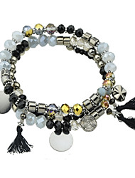 Vintage Style Multilayers Beads Tassel Chain Bracelets