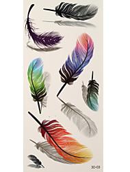 1 Tatuajes Adhesivos Otros feather flash de tatuaje Los tatuajes temporales