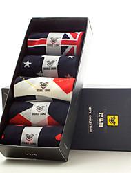 DOUBLE LIONS Men's Cotton Socks 5/box-MM0523