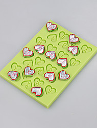 Easy baking cutely love heart shape mold for fondant cake silicone mold chocolate candy decoration tools