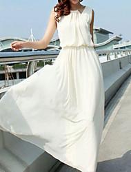 Женское шифоновое макси платье