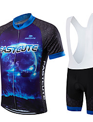 Sports Cycling Jersey with Bib Shorts Men's / Unisex Short Sleeve Bike Breathable / Quick Dry / Front Zipper / Wearable / CompressionBib
