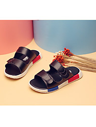 Boy's Slippers & Flip-Flops Summer Slippers Synthetic Casual Flat Heel Others Black White Walking