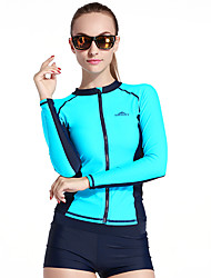 Spring Autumn Women Swimwear Long Sleeve Swim Shirt Top for Rashguard Diving Snorkeling Bathing Wetsuit