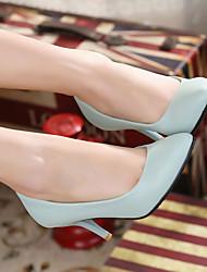 Women's Heels Summer Heels PU Casual Stiletto Heel Others Black / Pink / Gray / Beige / Navy Walking