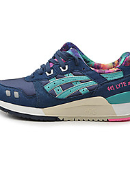Running Shoes Asics Gel Lyte III Womens Trainers Print Running Sneakers Athletic Tennis Shoes Blue Navy