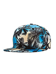 Fashion Women Men Street Dance Blue Coco Tree Print Adjustable Patchwork 3D Baseball Cap